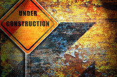 Roadsign under construction. Royalty Free Stock Image