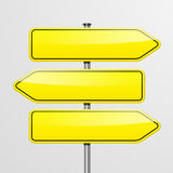 Roadsigns directions Royalty Free Stock Photo