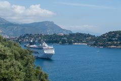 Roadstead of Villefranche-sur-mer, French Riviera Stock Image