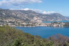 Roadstead of Villefranche-sur-mer, French Riviera royalty free stock photo