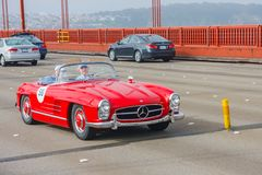 Roadster 1958 du benz 300SL de Mercedes Images stock