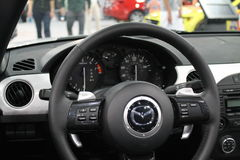 Roadster interior stock photography