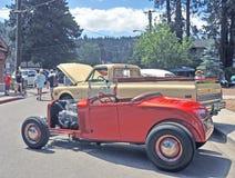 Roadster orange chaud Photo stock