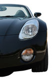 Roadster on road. Black roadster parked on the road (isolated Royalty Free Stock Images
