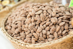 Roadted Almonds At The Market Royalty Free Stock Photos