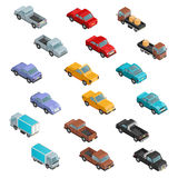 RoadTransport Colorful Isometric Icons Royalty Free Stock Photography