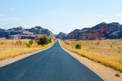 Roadtrip在Madagaskar在原野 库存照片