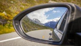 Roadtrip,盖朗厄尔峡湾,挪威 免版税库存照片