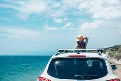 Roadtrip лета к пляжу стоковое фото