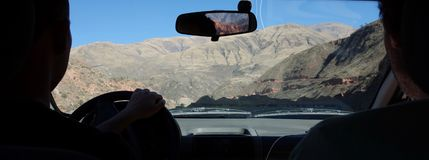 Roadtrip Into The Mountains, Salta, Argentina Royalty Free Stock Image