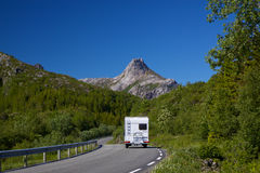 Roadtrip on Lofoten Stock Image