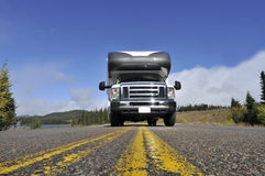 Roadtrip with motorhome in Canada Royalty Free Stock Image