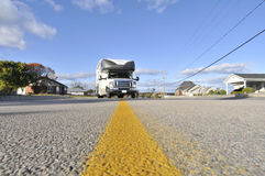 Roadtrip with motorhome in Canada Stock Photos