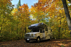 Roadtrip with motorhome in Indian summer Royalty Free Stock Images