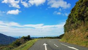 Roadtrip op de Klippen - Nieuwe Zeeland stock afbeelding