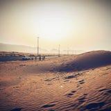 Roadtrip solnedgång Arkivfoton