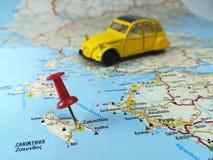 Roadtrip to destination stock image