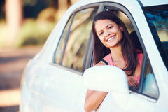 Roadtrip woman happy Royalty Free Stock Photography