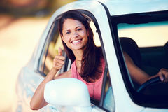 Roadtrip woman happy Royalty Free Stock Photos