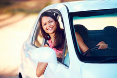 Roadtrip woman happy Stock Photography