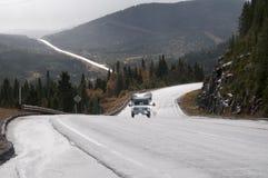 Roadtrip z motorhome w Indiańskim lecie Kanada Fotografia Royalty Free