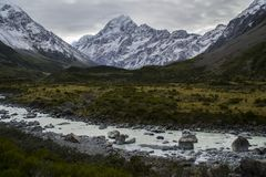 Roadtrip-Zeit! Neuseeland, Berg-Koch stockfoto
