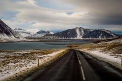 Roadtrippin在冰岛 库存图片