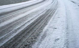 Roadway. Smooth Roadway road in winter Stock Images