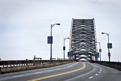 Roadway and Bayonne Bridge Stock Photos