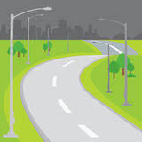 Roadway Blank  Background Design Cartoon vector Stock Photography
