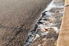 A roadway with broken ice Stock Image