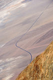 Roadway in Death Valley. California from the Peak of Dante's View Stock Image