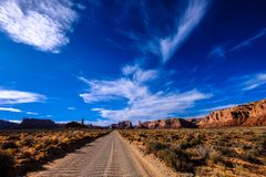 Roadway in Deserted Place Stock Photos