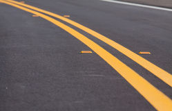 Roadway. Devider lines and markers Royalty Free Stock Photos