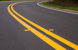 Roadway. Devider lines and markers Royalty Free Stock Images
