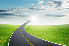 Roadway going up as an arrow, fresh air Royalty Free Stock Photo