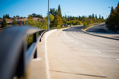 Roadway and Guardrail. With Empty Roadway Royalty Free Stock Photography