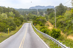 Roadway near Pinar del Rio, Cuba Royalty Free Stock Image