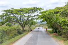 Roadway near Vinales, Cuba Stock Images