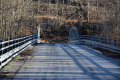Roadway and old bridge Royalty Free Stock Images