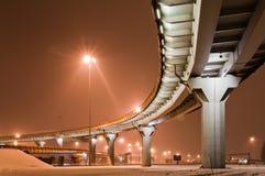 Roadway at orange night Royalty Free Stock Images