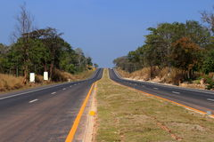 Roadway. Between province to province with the tree and sky background royalty free stock photo