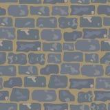 Roadway seamless pattern. The gray stone roadway seamless pattern Royalty Free Stock Photography