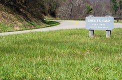 Roadway at Sheet Gap on the Blue Ridge Parkway, North Carolina, USA Stock Images