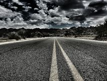 Roadways. A desolate road in california Royalty Free Stock Image
