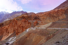 Roadways in Ladakh mountains Stock Image