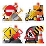 roadwork икон Стоковые Изображения RF