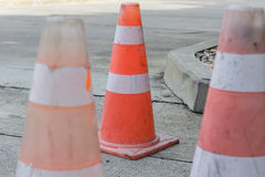 Roadwork with Cones Royalty Free Stock Photography