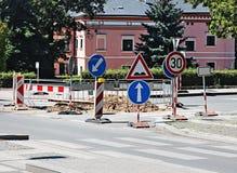 Roadwork na cidade Fotografia de Stock Royalty Free