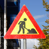 Roadwork sign Royalty Free Stock Images